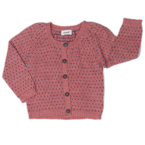 OEUF Strickjacke Heartdots