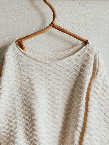 LIILU organics Pullover knit sweater milk