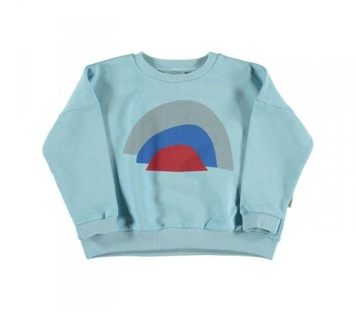 Piupiuchick Sweater Rainbow mist blue